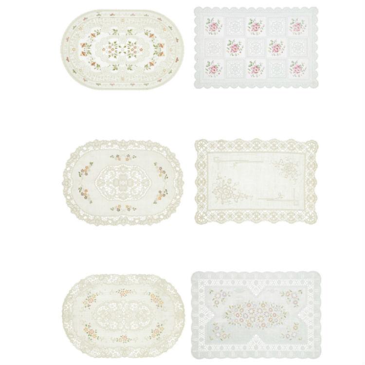 Meiwa Plastico Carpeta Crochet Punto De Cruz Blanco - 30x45x50cm