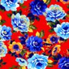Algodón California Rosas Rojo