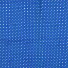 Algodon Roma Bolas Chica Liso Azul Rey