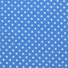 Algodon Roma Bolas Grande Liso Azul Rey