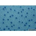 Organza Metalica Estrellas Azul Cielo