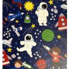 Algodón Americano Astronauta Azul Marino
