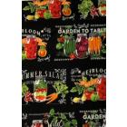Algodón Americano Verduras Negro