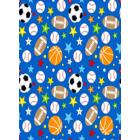 Algodon Jamaica Infantiles Futbol Azul Rey