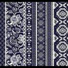 Rayon Chalis Etnico Azul Marino