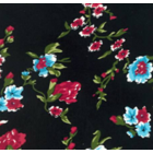 Rayon Chalis Bouquet Negro