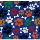 Algodón Americano Huellitas Azul Rey
