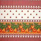 Mantel Florencia Vegetales Rojo