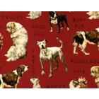 Algodón Americano Perros Rojo