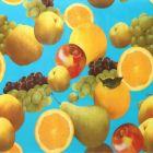 Plastico Charomesa Frutas Temporada Azul Cielo