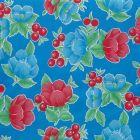 Plastico Charomesa Tulipan Cerezas Azul Rey