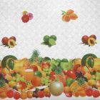 Plastico Cristamesa Frutas Tropicales Blanco