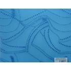 Organza Metalica Geo Azul Turquesa