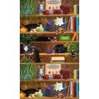 Algodón Americano Gatos Café Beige