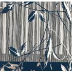 Seda Royal Estampada 1.10 Cenefa Azul Marino