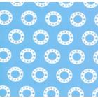 Seda Royal Estampada 1.10 Circulo Azul Cielo