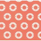 Seda Royal Estampada 1.10 Circulo Rosa Palo