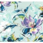 Rayon Chalis Flor Grande Azul Cielo