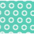 Seda Royal Estampada 1.10 Circulo Verde Menta