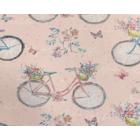 Algodón Americano Bicicleta Rosa Pastel
