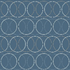 Acolchado Capitonado Zara Circulo Azul Marino