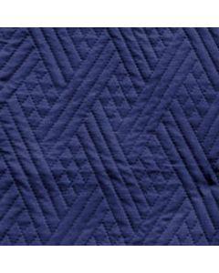 Acolchado Saturno Geometrico Azul Marino