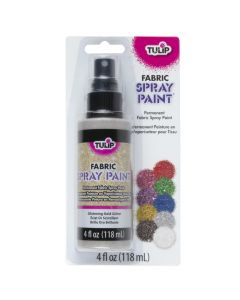 Pintura en Spray Tulip Oro con Glitter No.26570