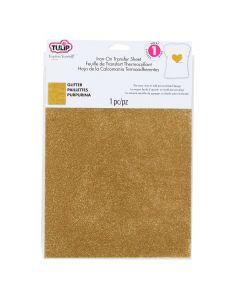 Transfer c/glitter Tulip Oro No.31624