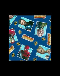 Algodón Micro Fibra Disney Avengers Azul Rey