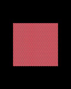 Algodón Micro Fibra Estampado Puntos Rojo