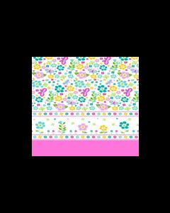 Algodón Micro Fibra Estampado Mariposa Rosa Pastel