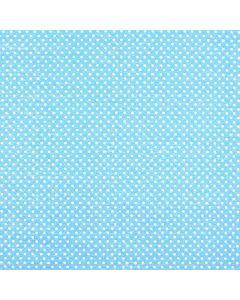 Blancos Molleton Bolas Azul Cielo