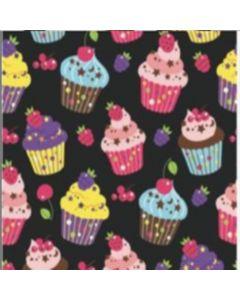 Blancos Micro Trapo Estampado Cupcake