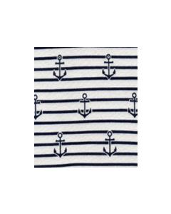 Camiseta Estampada Anclas Azul Marino