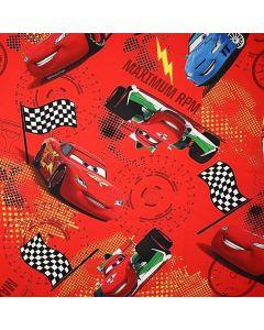 Decoracion Canasta Disney Cars Mixto Rojo