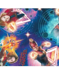Decoracion Canasta Disney Capitan Marvel Azul Marino