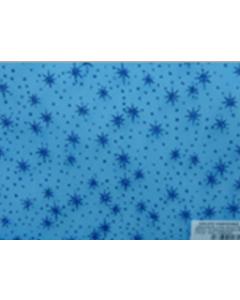 Organza Metalica Estrellas Azul Turquesa