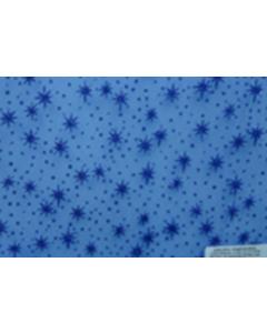 Organza Metalica Estrellas Azul Rey