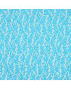 Encaje Stretch Flor Mediana Azul Turquesa