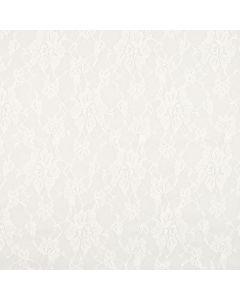 Encaje Stretch Flor Grande Blanco