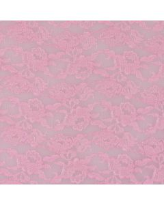 Encaje Español Flor Mediana Rosa Pastel
