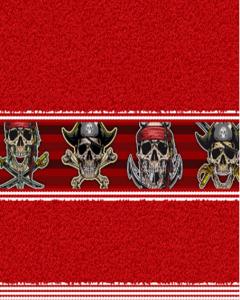 Felpa Para Toalla Estampada Pirata Rojo