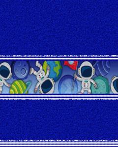 Felpa Para Toalla Estampada Astronauta Azul Rey