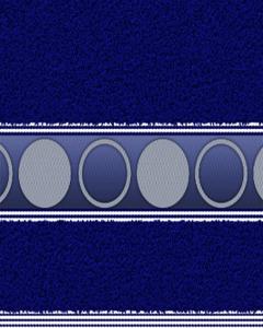 Felpa Para Toalla Estampada Circulo Azul Marino