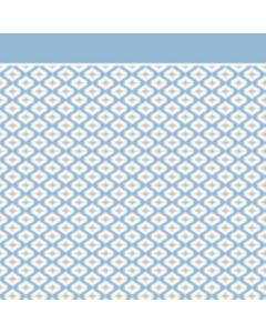 Franela Sabana 2.50 Geométrico Azul Cielo