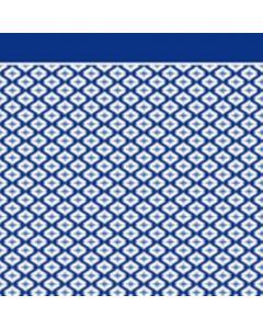 Franela Sabana 2.50 Geométrico Azul Marino