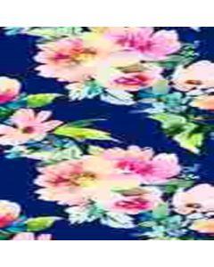 Lickra Brush Flor Mediana Azul Marino
