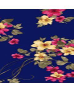 Lickra Brush Flor Grande Azul Marino