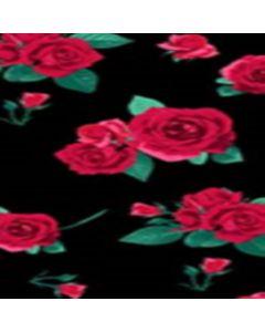 Lickra Brush Flor Grande Negro