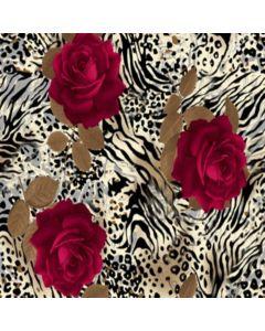 Lickra Brush Zebra Rosa Rojo